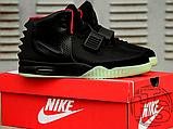 Мужские кроссовки Nike Air Yeezy 2 Black/Solar Red 508214-006, фото 5