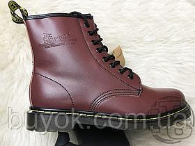 Жіночі черевики Dr Martens Boots 1460 Smooth Cherry Red (з хутром) 11821600