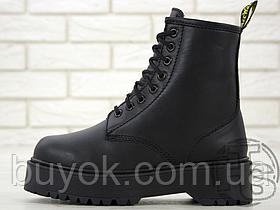 Жіночі черевики Dr.Martens Jadon Mono Total Black Boots (з хутром)