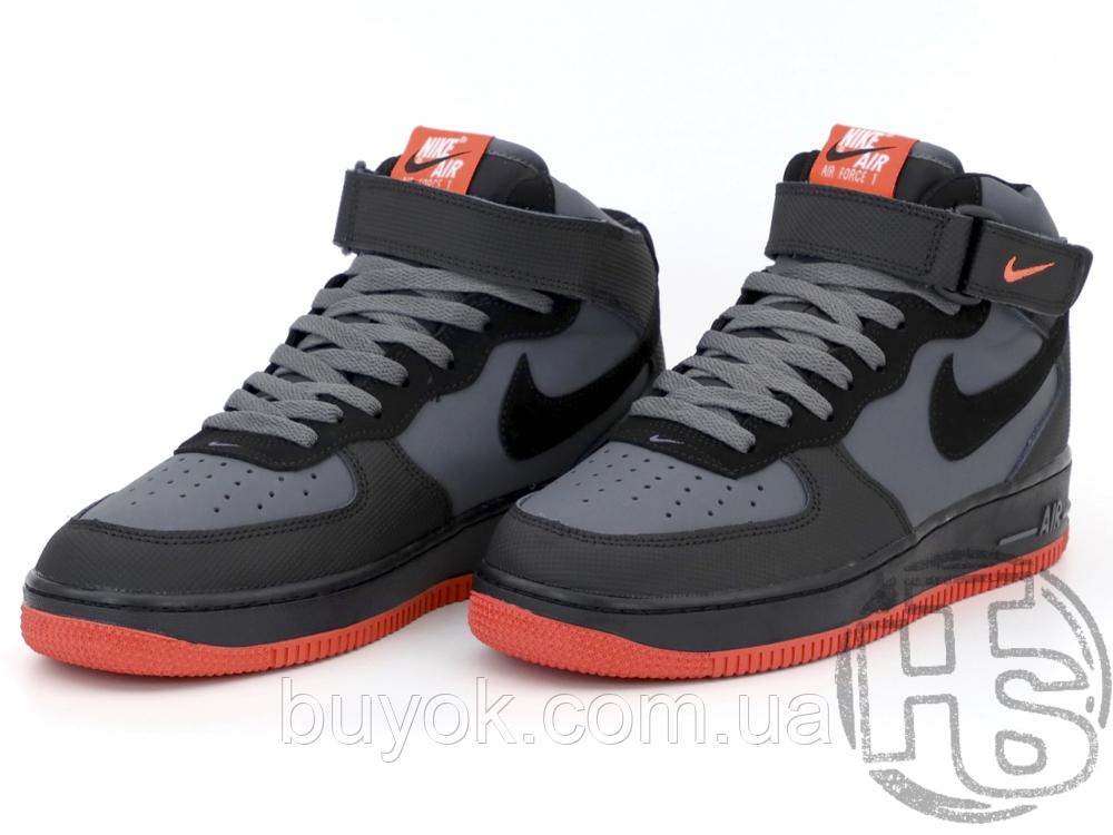 Чоловічі кросівки Nike Air Force 1 Mid Lava Hot Grey Black Red 315123-031