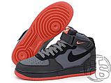 Чоловічі кросівки Nike Air Force 1 Mid Lava Hot Grey Black Red 315123-031, фото 2