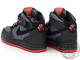 Чоловічі кросівки Nike Air Force 1 Mid Lava Hot Grey Black Red 315123-031, фото 3