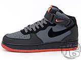 Чоловічі кросівки Nike Air Force 1 Mid Lava Hot Grey Black Red 315123-031, фото 4