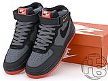 Чоловічі кросівки Nike Air Force 1 Mid Lava Hot Grey Black Red 315123-031, фото 5