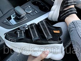 Жіночі сандалі Versace Chain Reaction Sandal Black/White
