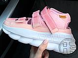 Женские сандалии Versace Chain Reaction Sandal Pink White, фото 4