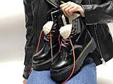 Зимові жіночі черевики Dr. Martens Jadon Rainbow з хутром (жіночі Ін Мартенс Джейдон Веселка), фото 5