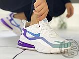 Жіночі кросівки Nike Air Max 270 React Gradient Shift White/Blue-Purple AT6174-102, фото 2