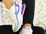 Жіночі кросівки Nike Air Max 270 React Gradient Shift White/Blue-Purple AT6174-102, фото 3