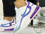 Жіночі кросівки Nike Air Max 270 React Gradient Shift White/Blue-Purple AT6174-102, фото 6