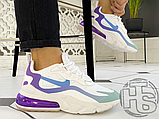 Жіночі кросівки Nike Air Max 270 React Gradient Shift White/Blue-Purple AT6174-102, фото 8