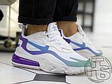 Жіночі кросівки Nike Air Max 270 React Gradient Shift White/Blue-Purple AT6174-102, фото 9