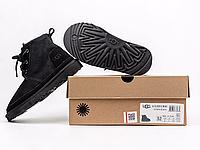 Детские ботинки UGG Neumel Suede Boots Black (детские Угг Неумел замша ботинки черные) 3236