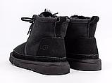 Детские ботинки UGG Neumel Suede Boots Black (детские Угг Неумел замша ботинки черные) 3236, фото 2