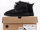 Детские ботинки UGG Neumel Suede Boots Black (детские Угг Неумел замша ботинки черные) 3236, фото 4