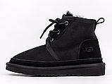 Дитячі чоботи UGG Neumel Suede Boots Black (дитячі Угг Недотепний замша черевики чорні) 3236, фото 5