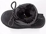 Детские ботинки UGG Neumel Suede Boots Black (детские Угг Неумел замша ботинки черные) 3236, фото 6