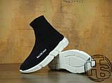 Мужские кроссовки Balenciaga Knit High-Top Sneakers Black/White 504880899, фото 2