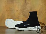 Мужские кроссовки Balenciaga Knit High-Top Sneakers Black/White 504880899, фото 3