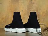 Мужские кроссовки Balenciaga Knit High-Top Sneakers Black/White 504880899, фото 5