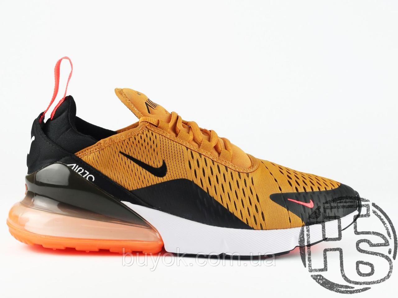 Мужские кроссовки Nike Air Max 270 Flyknit Yellow/Black/Red AH8050-706