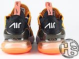 Мужские кроссовки Nike Air Max 270 Flyknit Yellow/Black/Red AH8050-706, фото 3