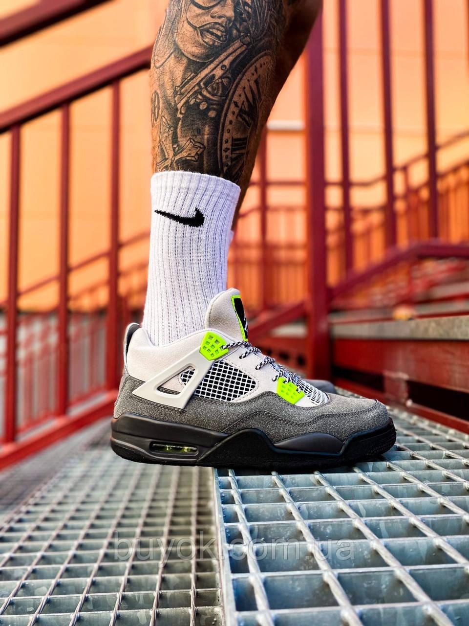 Чоловічі кросівки Air Jordan 4 Retro SE Neon (чоловічі Аїр Джордан 4 Ретро Неон) CT5342-007