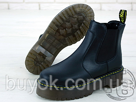 Жіночі черевики Dr.Martens 2976 Platform Leather Chelsea Black Boots 24687001
