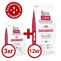 Brit Care Dog Endurance 12 кг+3 кг гіпоалергенний корм з качкою для собак