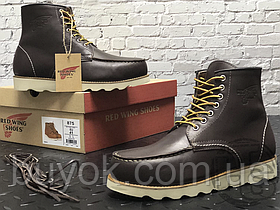 Зимние ботинки Red Wing USA Classic Moc 6-inch Boot 8424890 Charcoal 8890 (нат. мех)
