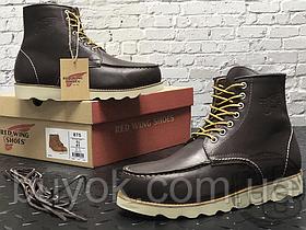 Зимові черевики Red Wing USA Classic Moc 6-inch Boot 8424890 Charcoal 8890 (нат. хутро)