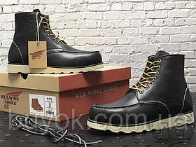 Зимние ботинки Red Wing USA Classic Moc 6-inch Boot 8424890 Black 8849 (нат. мех)