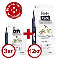 Brit Care Dog Show Champion 12кг+3кг корм для виставкових собак для підтримки у відмінній формі