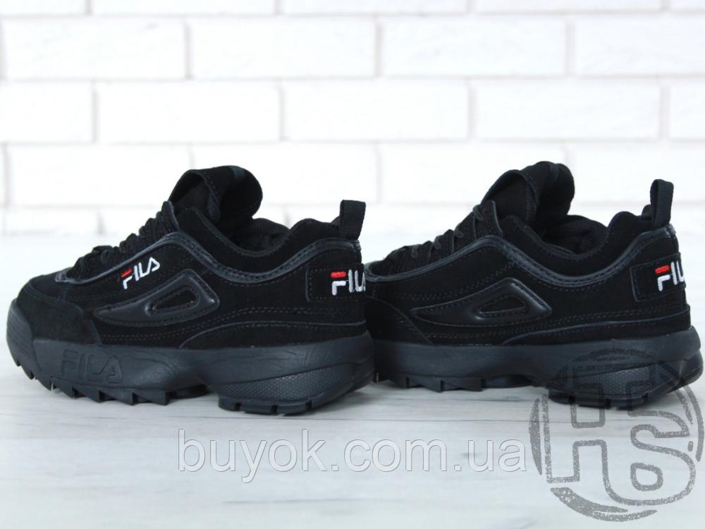 Жіночі кросівки Fila Disruptor II 2 Black Winter (з хутром) FW01653-018