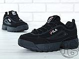 Мужские кроссовки Fila Disruptor II 2 Black Winter (с мехом) FW01653-018, фото 3
