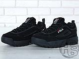 Мужские кроссовки Fila Disruptor II 2 Black Winter (с мехом) FW01653-018, фото 4