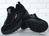 Мужские кроссовки Fila Disruptor II 2 Black Winter (с мехом) FW01653-018, фото 5