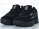 Мужские кроссовки Fila Disruptor II 2 Black Winter (с мехом) FW01653-018, фото 6