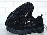 Мужские кроссовки Fila Disruptor II 2 Black Winter (с мехом) FW01653-018, фото 7
