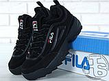 Мужские кроссовки Fila Disruptor II 2 Black Winter (с мехом) FW01653-018, фото 9
