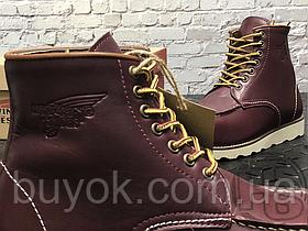 Зимові черевики Red Wing USA Classic Moc 6-inch Boot 8424890 Bordo 8856 (нат. хутро)
