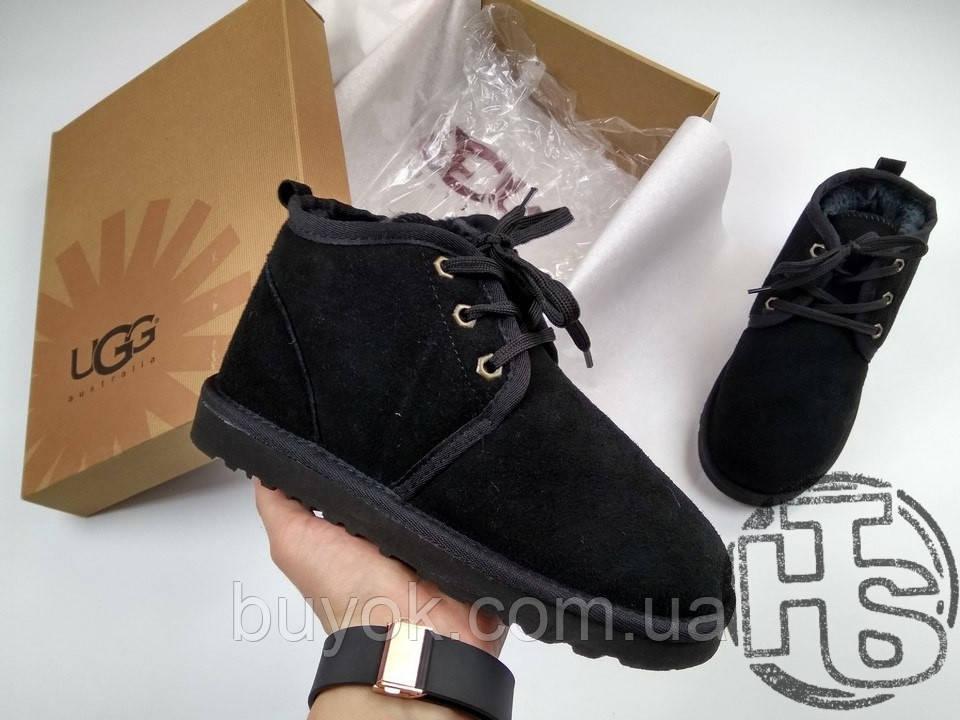 Чоловічі черевики UGG Neumel Suede Black Boots 3236