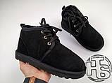 Чоловічі черевики UGG Neumel Suede Black Boots 3236, фото 3