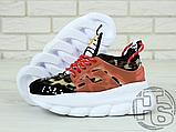 Жіночі кросівки Versace Chain Reaction 2 Chainz Spotted/Black Red DSU7071 D15VG, фото 4