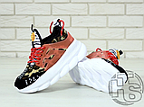 Жіночі кросівки Versace Chain Reaction 2 Chainz Spotted/Black Red DSU7071 D15VG, фото 5