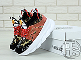 Жіночі кросівки Versace Chain Reaction 2 Chainz Spotted/Black Red DSU7071 D15VG, фото 7