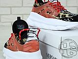 Жіночі кросівки Versace Chain Reaction 2 Chainz Spotted/Black Red DSU7071 D15VG, фото 8