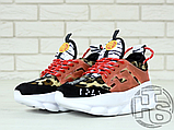 Жіночі кросівки Versace Chain Reaction 2 Chainz Spotted/Black Red DSU7071 D15VG, фото 9