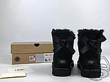 Женские угги UGG Mini Bailey Bow II Boot Black 1005062, фото 2