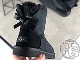 Женские угги UGG Mini Bailey Bow II Boot Black 1005062, фото 4